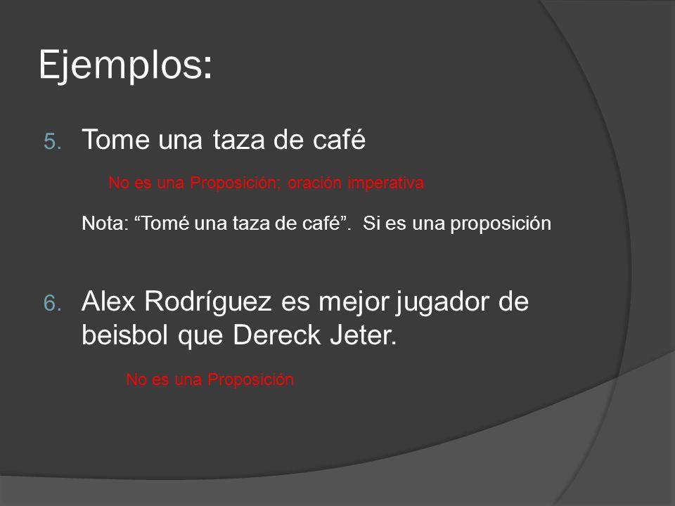 Ejemplos: Tome una taza de café
