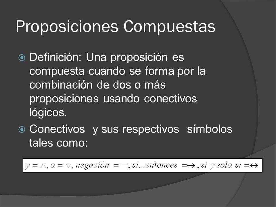 Proposiciones Compuestas