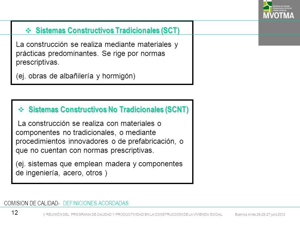 Sistemas Constructivos Tradicionales (SCT)