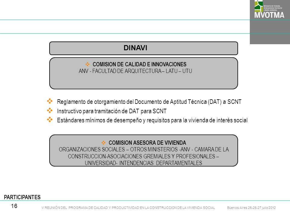 COMISION DE CALIDAD E INNOVACIONES COMISION ASESORA DE VIVIENDA