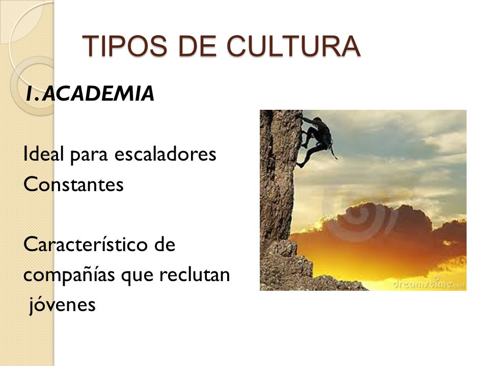 TIPOS DE CULTURA 1.