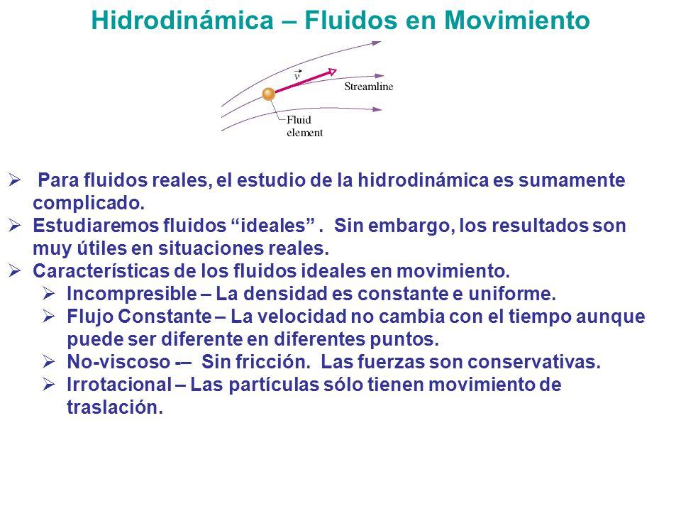 Hidrodinámica – Fluidos en Movimiento