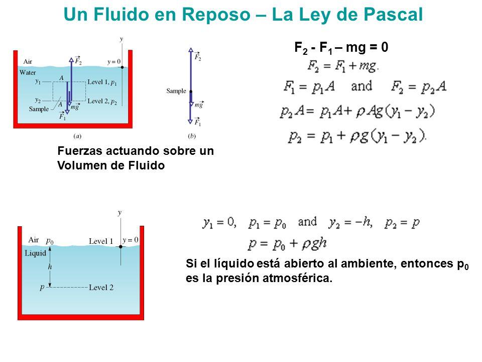 Un Fluido en Reposo – La Ley de Pascal