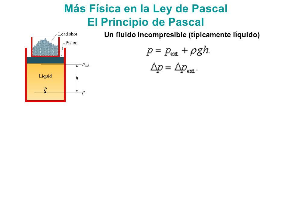 Más Física en la Ley de Pascal
