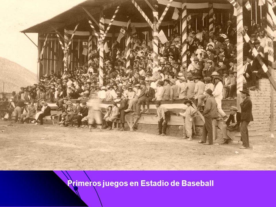 Primeros juegos en Estadio de Baseball