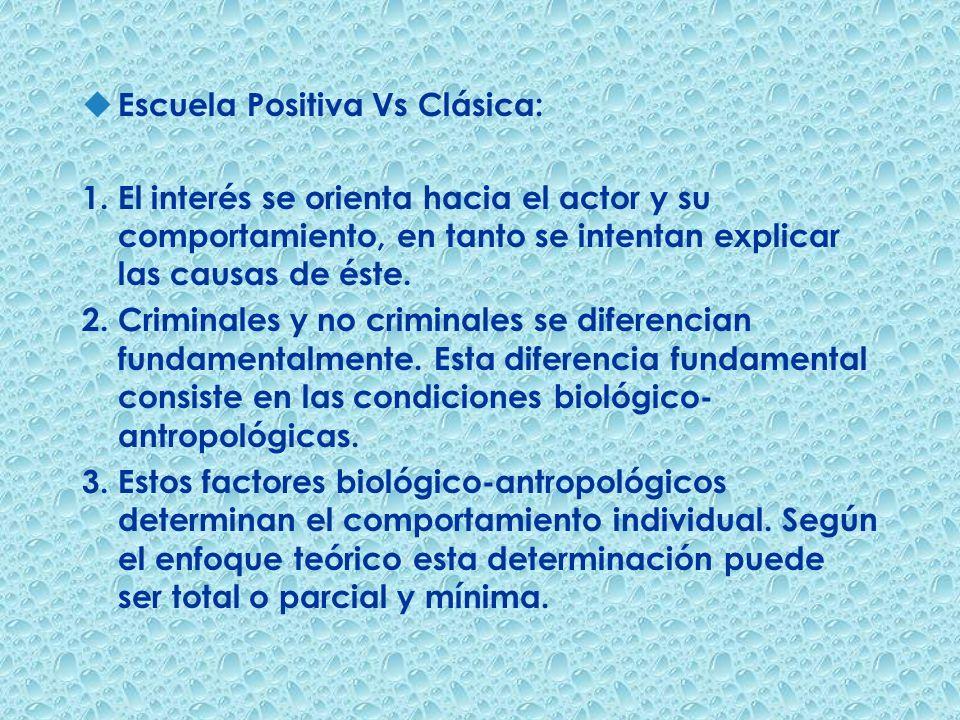 Escuela Positiva Vs Clásica: