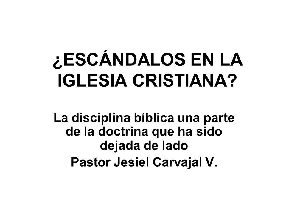 ¿ESCÁNDALOS EN LA IGLESIA CRISTIANA