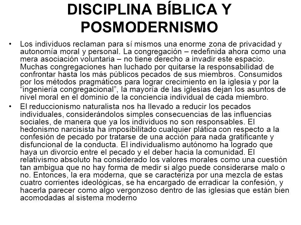 DISCIPLINA BÍBLICA Y POSMODERNISMO