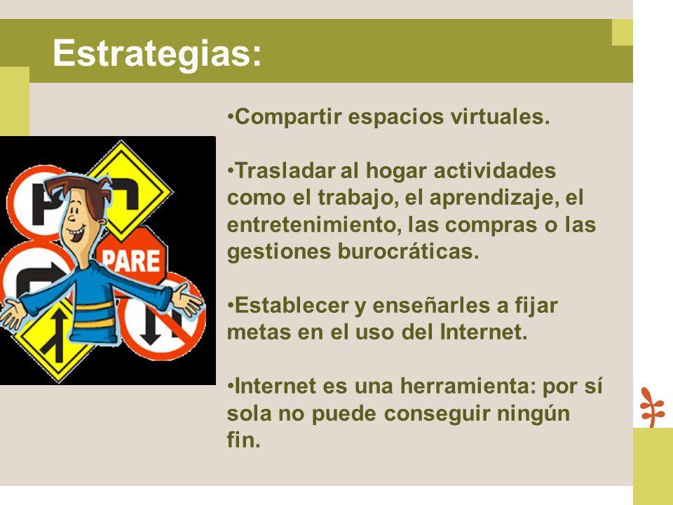 Estrategias: Compartir espacios virtuales.