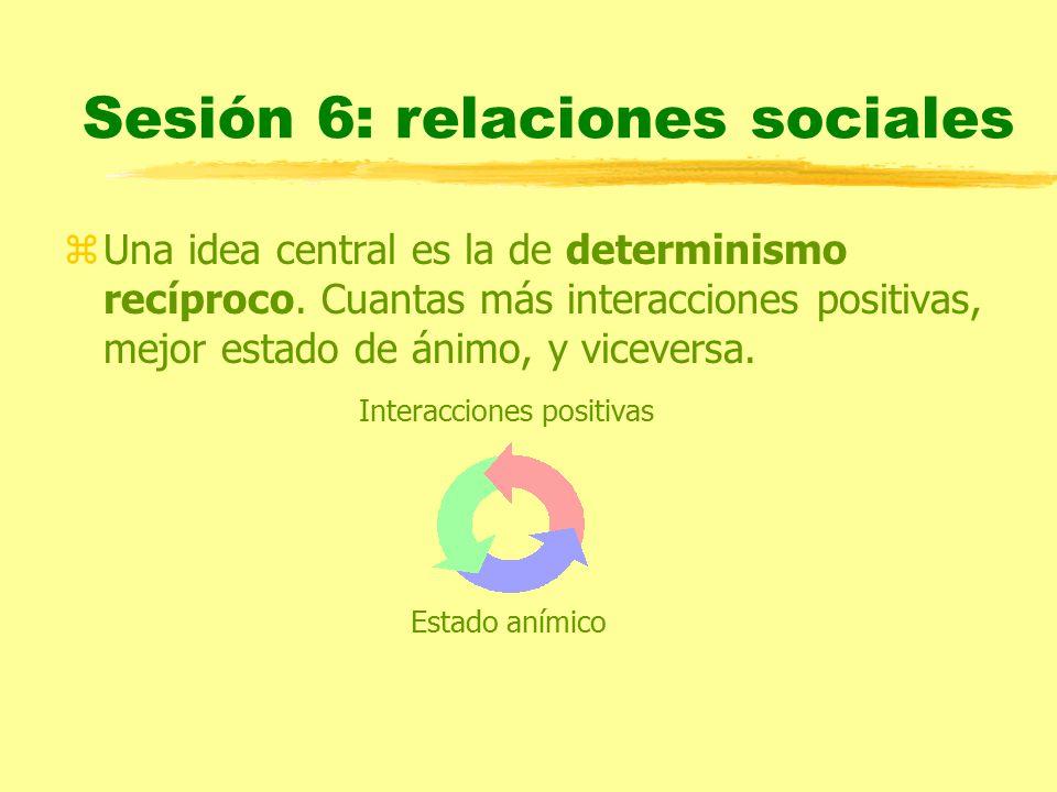 Sesión 6: relaciones sociales