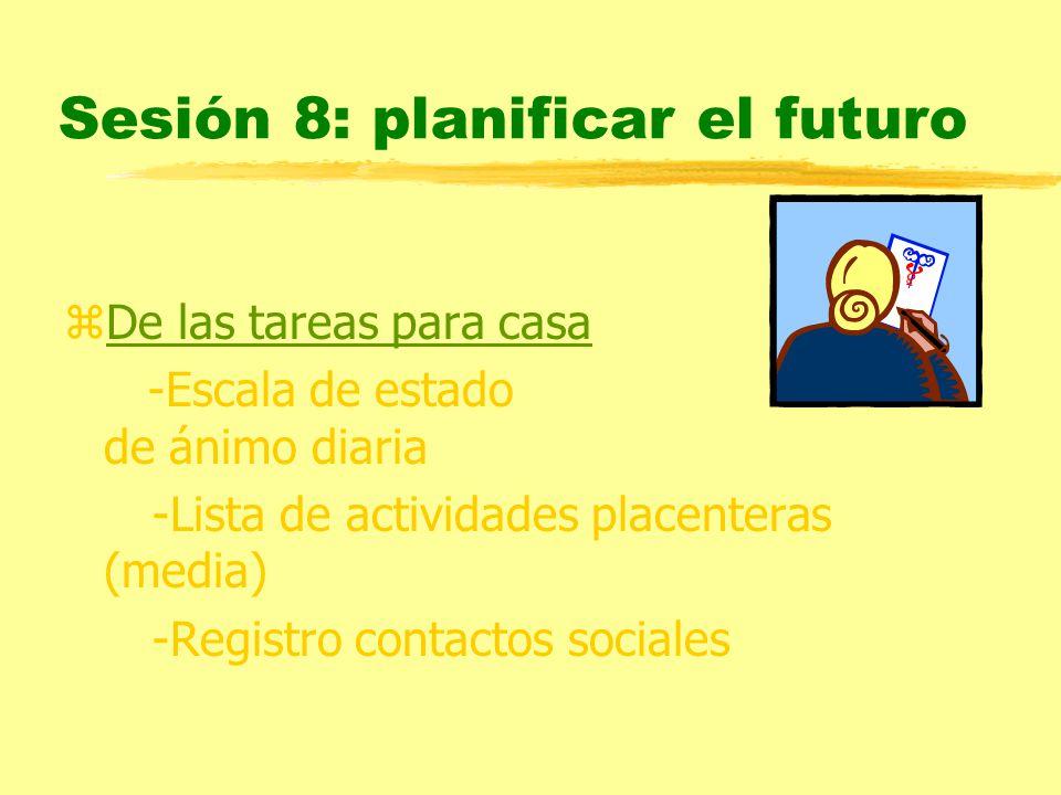Sesión 8: planificar el futuro