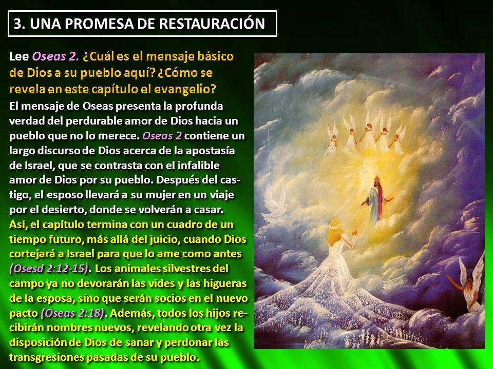 3. UNA PROMESA DE RESTAURACIÓN