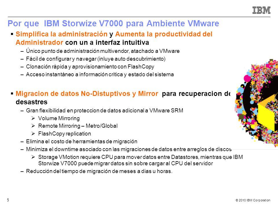 Por que IBM Storwize V7000 para Ambiente VMware