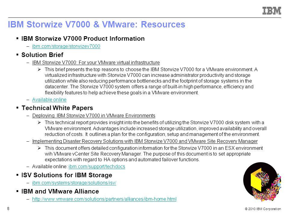 IBM Storwize V7000 & VMware: Resources