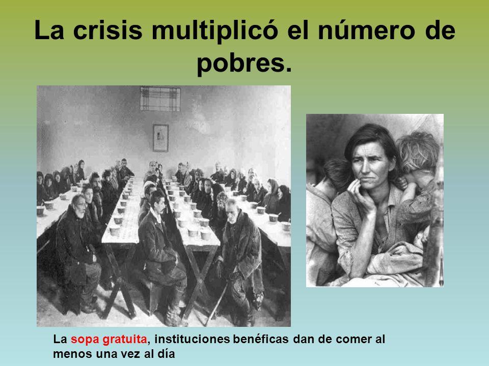 La crisis multiplicó el número de pobres.