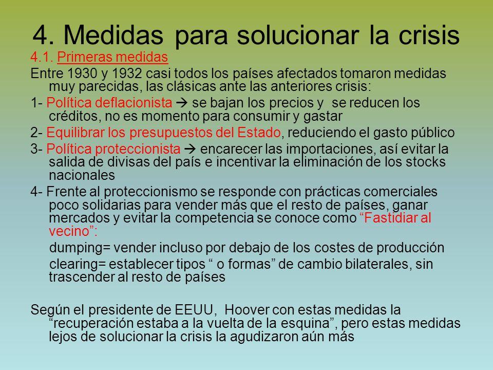 4. Medidas para solucionar la crisis