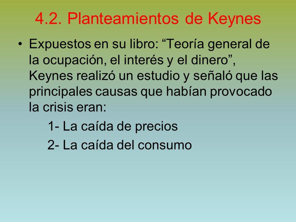 4.2. Planteamientos de Keynes