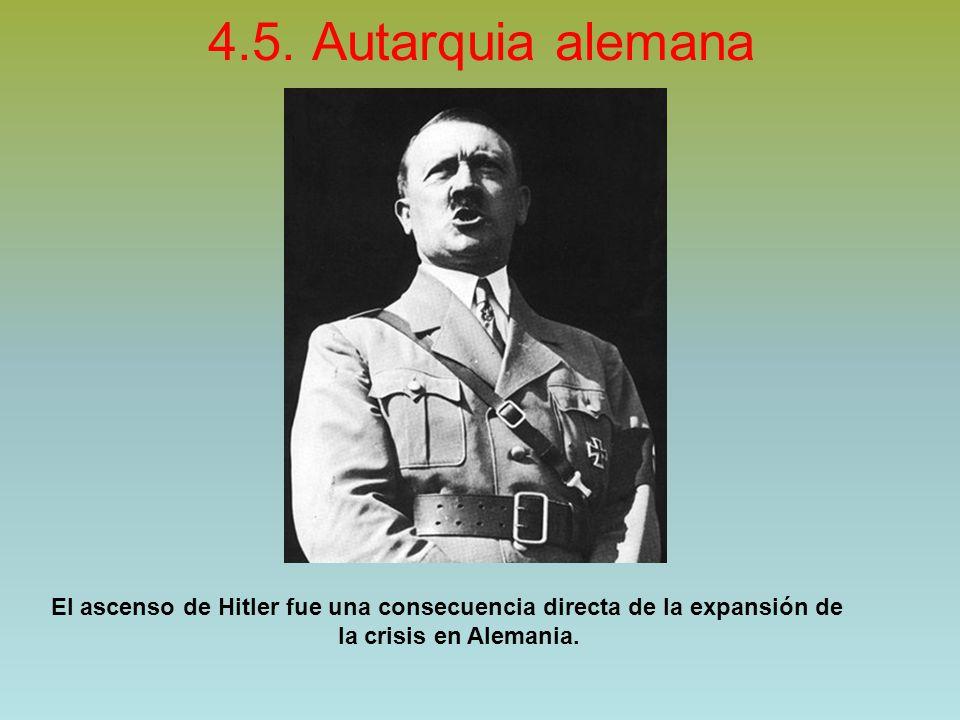 4.5. Autarquia alemana El ascenso de Hitler fue una consecuencia directa de la expansión de.