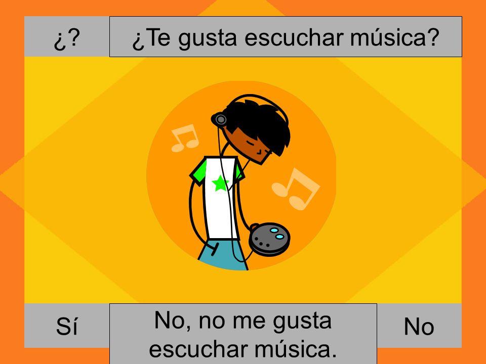 ¿Te gusta escuchar música