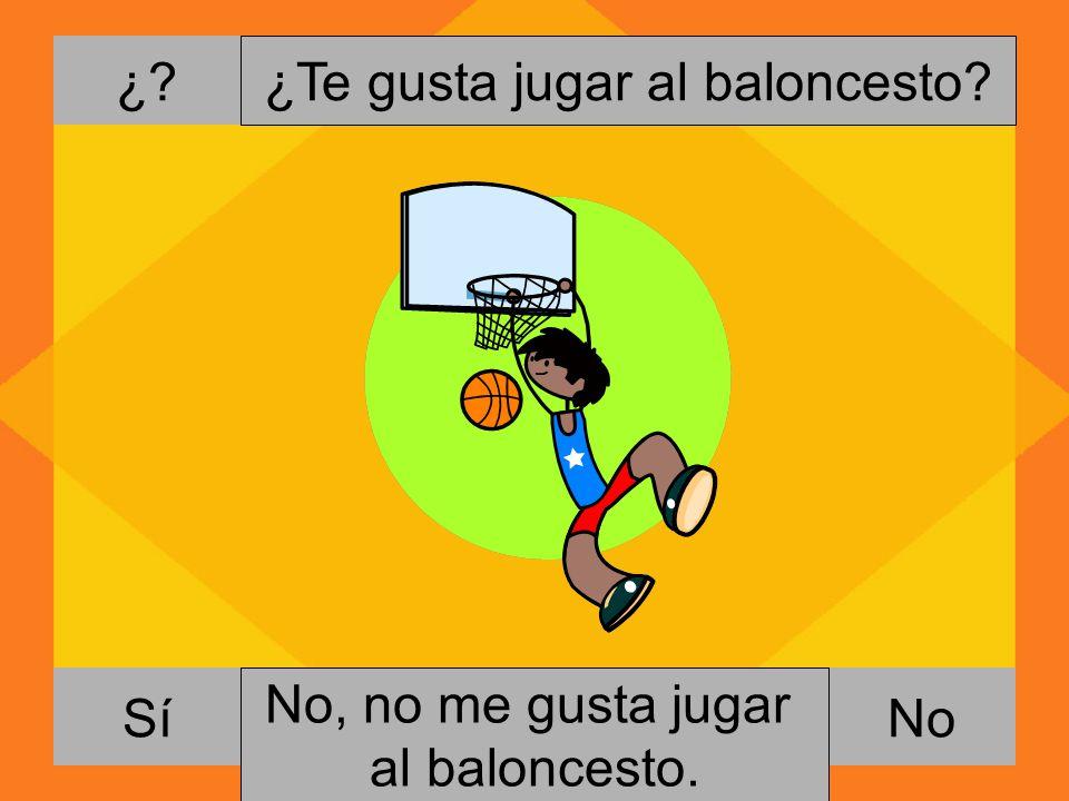 ¿Te gusta jugar al baloncesto