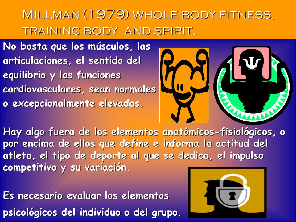 Millman (1979) whole body fitness, training body and spirit.