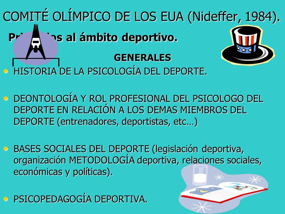 COMITÉ OLÍMPICO DE LOS EUA (Nideffer, 1984)