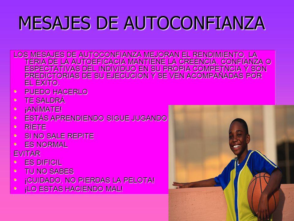 MESAJES DE AUTOCONFIANZA