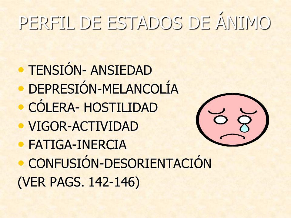 PERFIL DE ESTADOS DE ÁNIMO