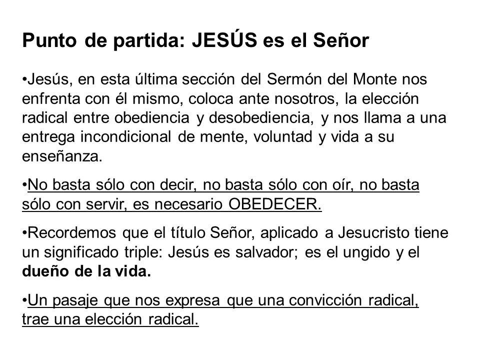 Punto de partida: JESÚS es el Señor