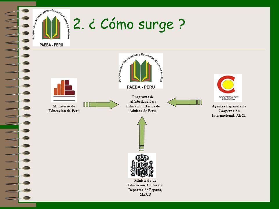 2. ¿ Cómo surge Programa de Alfabetización y Educación Básica de Adultos de Perú. Ministerio de Educación de Perú.