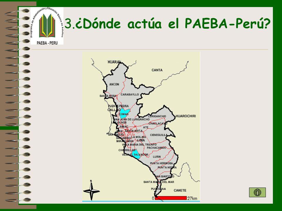 3.¿Dónde actúa el PAEBA-Perú