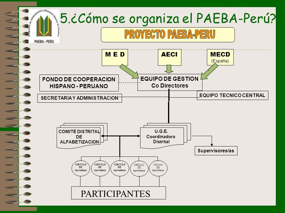 5.¿Cómo se organiza el PAEBA-Perú