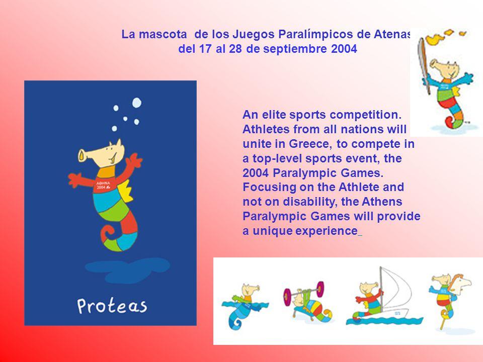 La mascota de los Juegos Paralímpicos de Atenas