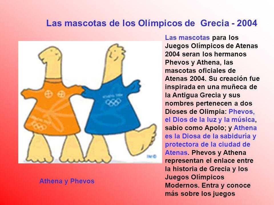 Las mascotas de los Olímpicos de Grecia - 2004