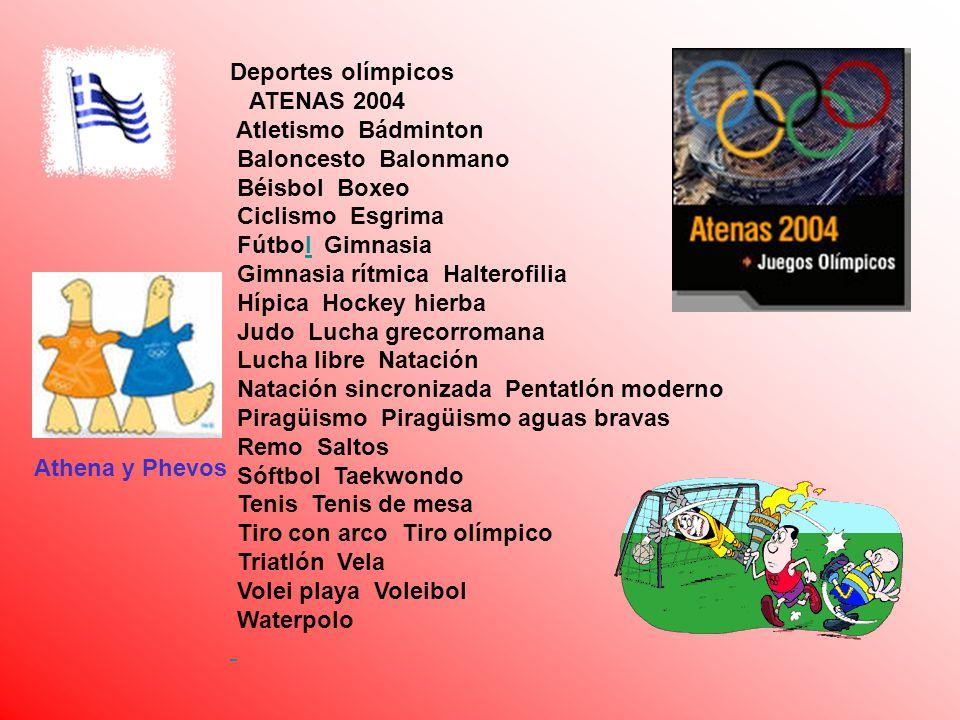 Deportes olímpicos ATENAS 2004