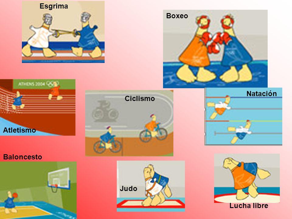 Esgrima Boxeo Natación Ciclismo Atletismo Baloncesto Judo Lucha libre