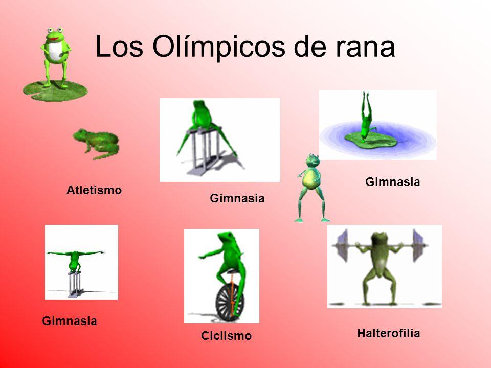 Los Olímpicos de rana Gimnasia Atletismo Gimnasia Gimnasia Ciclismo