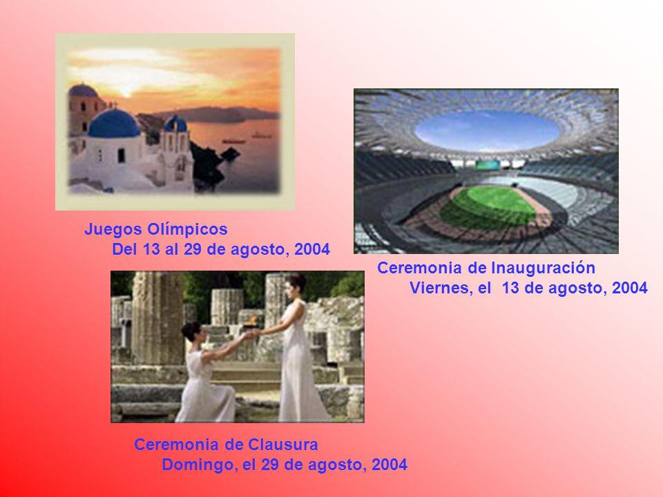 Juegos Olímpicos Del 13 al 29 de agosto, 2004