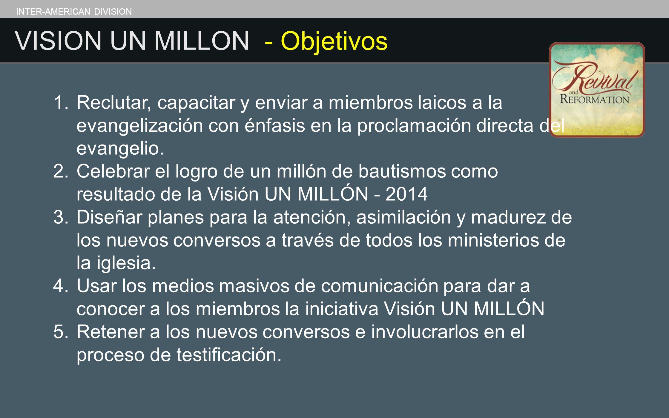 VISION UN MILLON - Objetivos