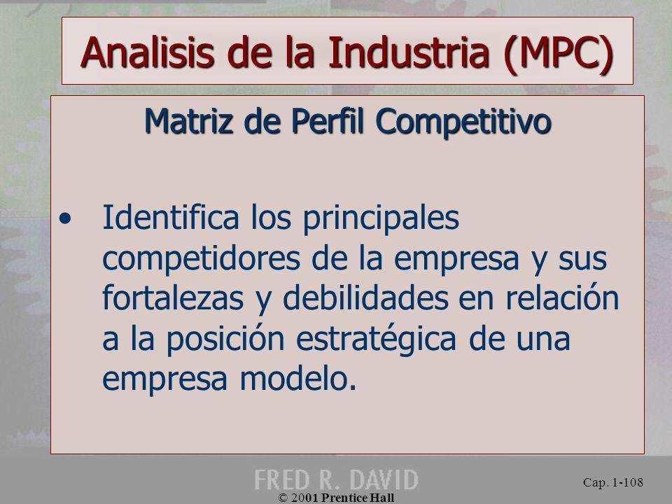 Analisis de la Industria (MPC)
