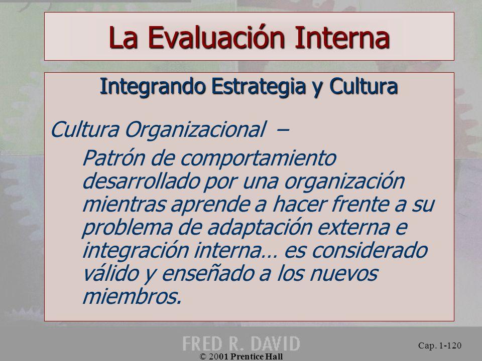 Integrando Estrategia y Cultura