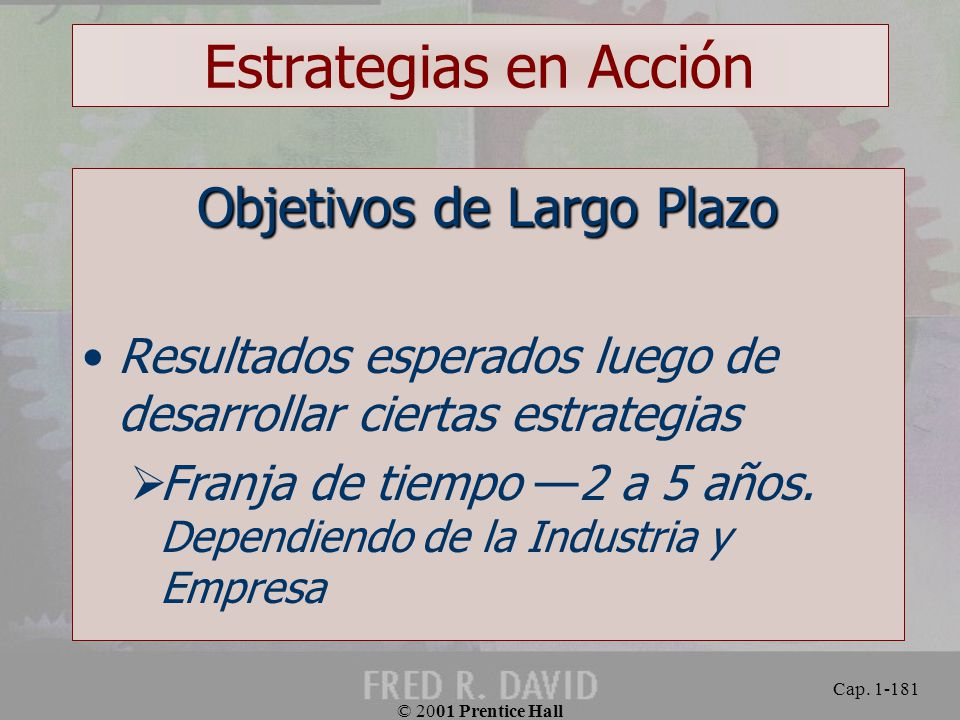Objetivos de Largo Plazo