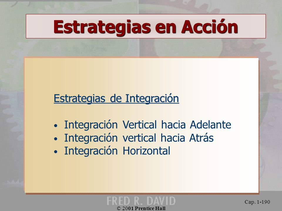 Estrategias en Acción Estrategias de Integración