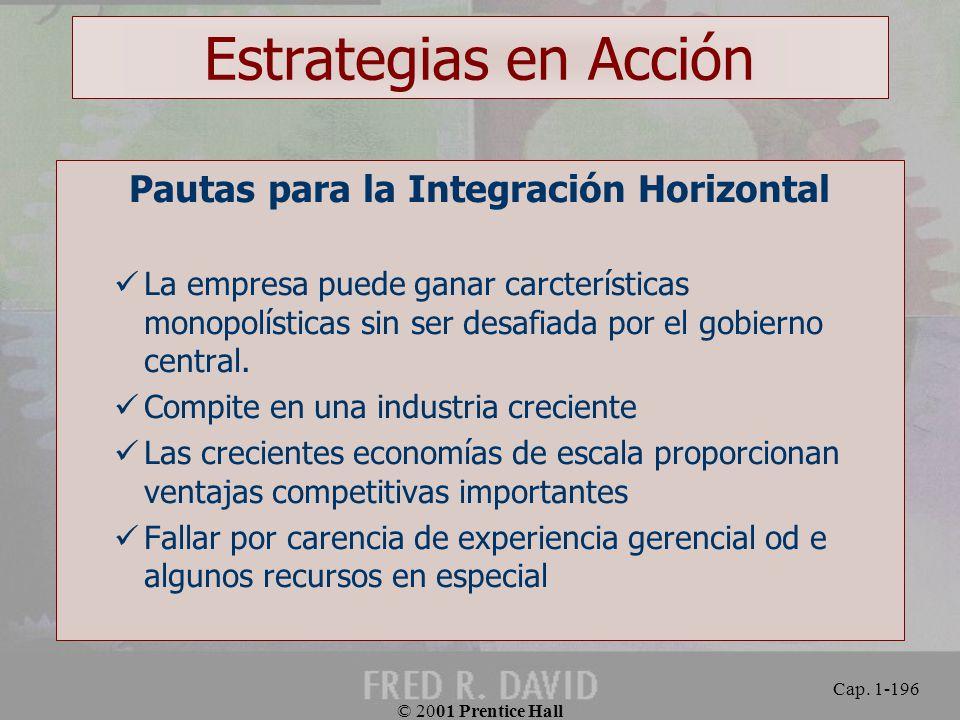 Pautas para la Integración Horizontal