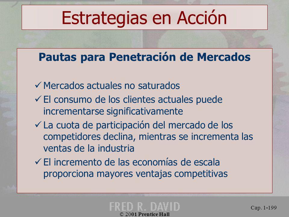 Pautas para Penetración de Mercados