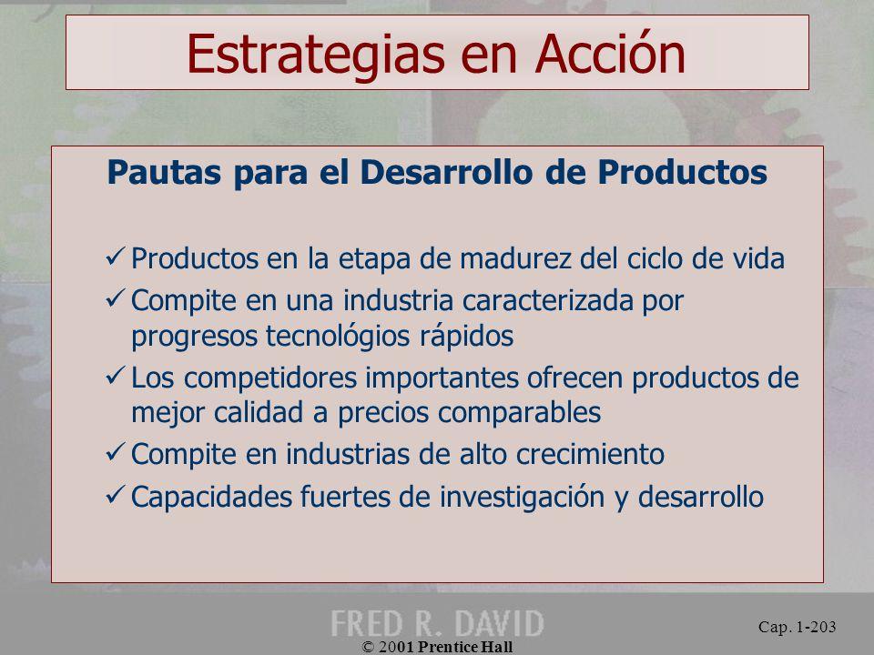 Pautas para el Desarrollo de Productos
