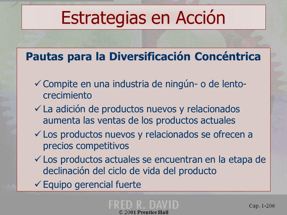 Pautas para la Diversificación Concéntrica