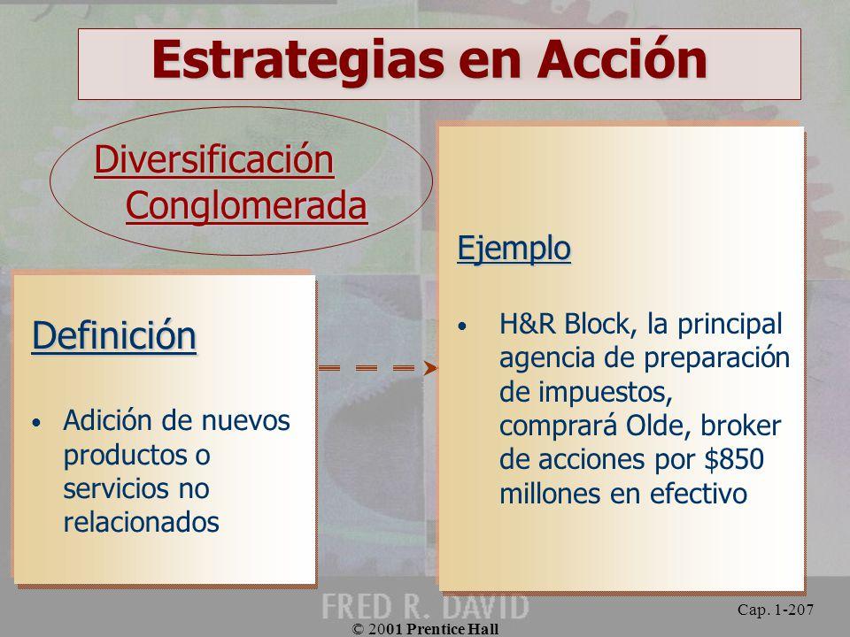 Estrategias en Acción Diversificación Conglomerada Definición Ejemplo