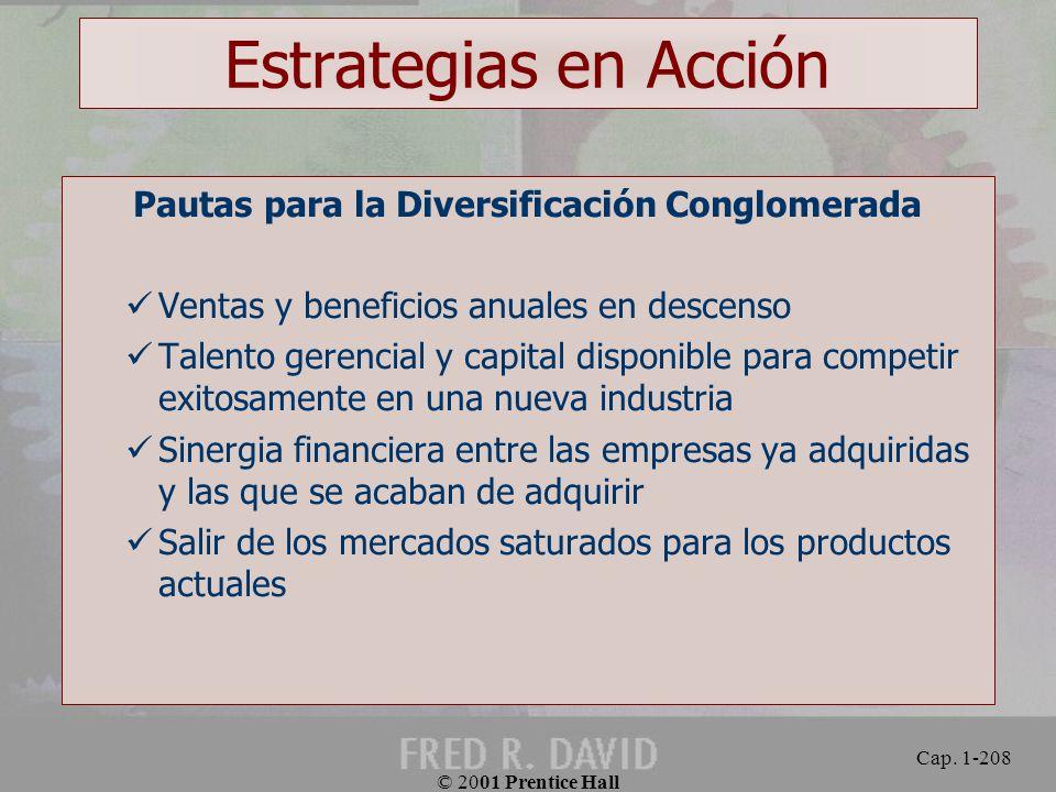 Pautas para la Diversificación Conglomerada