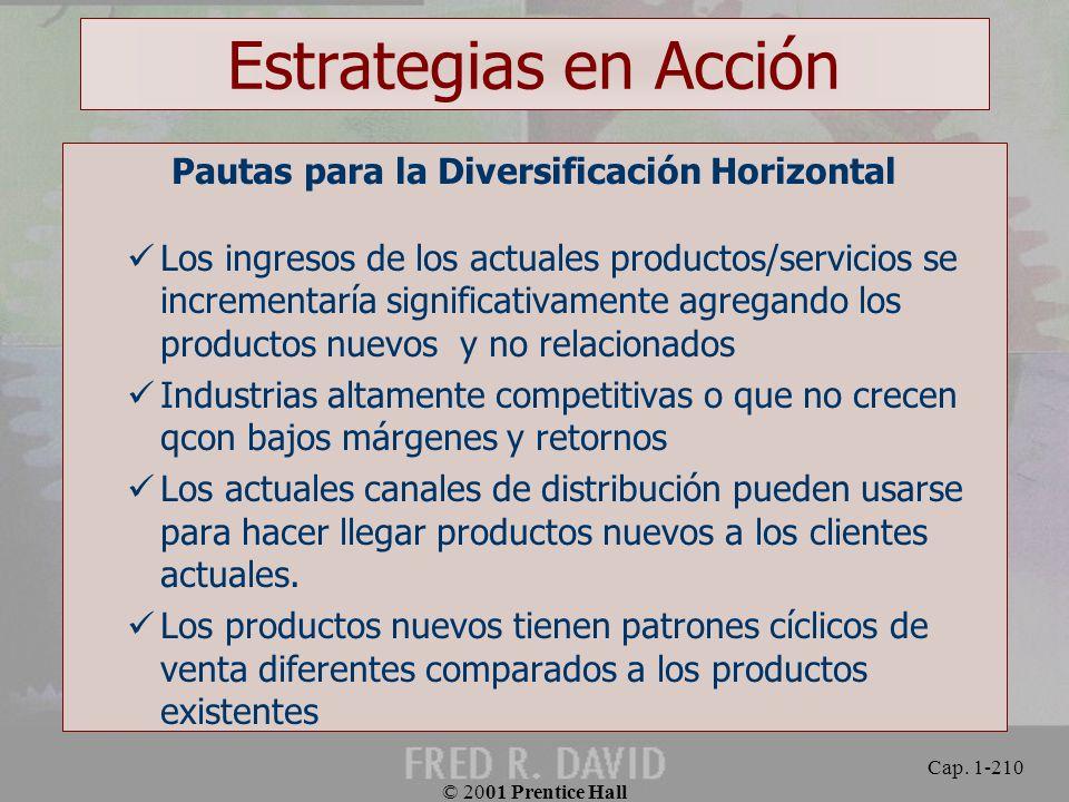 Pautas para la Diversificación Horizontal